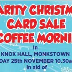 CHARITY CHRISTMAS & COFFEE MORNING CARD SALE
