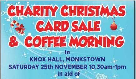 CHARITY CHRISTMAS & COFFEE MORNING CARD SALE
