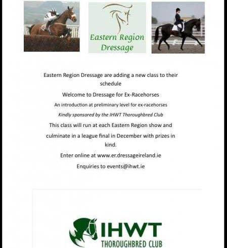 Eastern Region Dressage introduce a class for ex-racehorses
