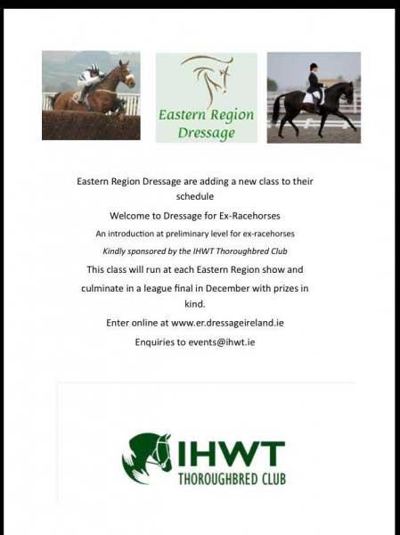 Eastern Region Dressage introduce a class for ex-racehorses