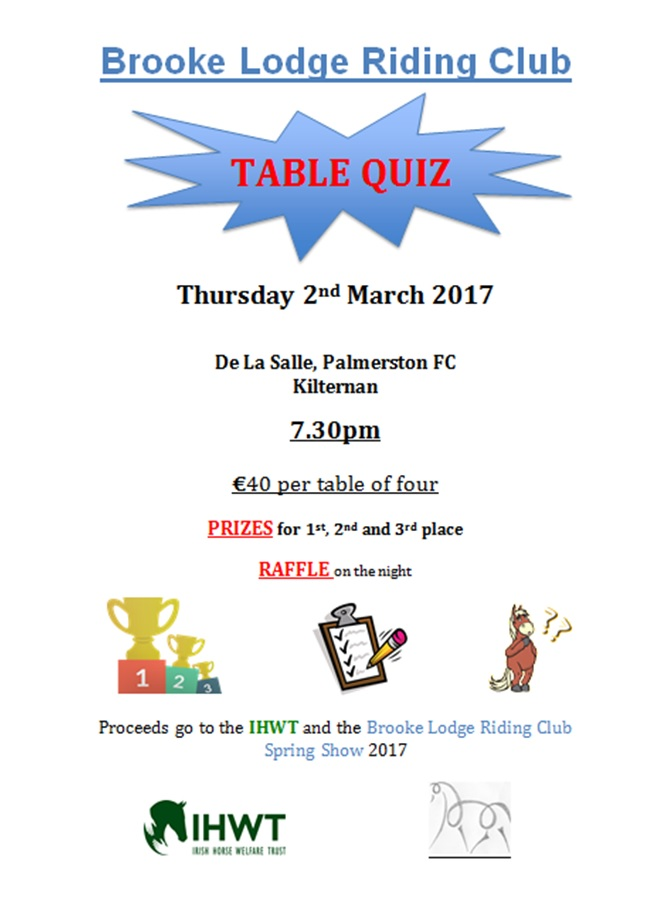 BLRC Table Quiz 2017